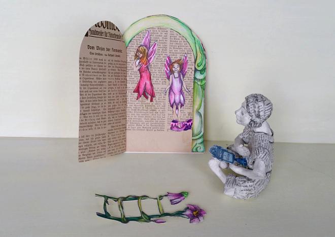 Kreatives upcycling für alte Bücher: Eine märchenhafte Elfentür basteln