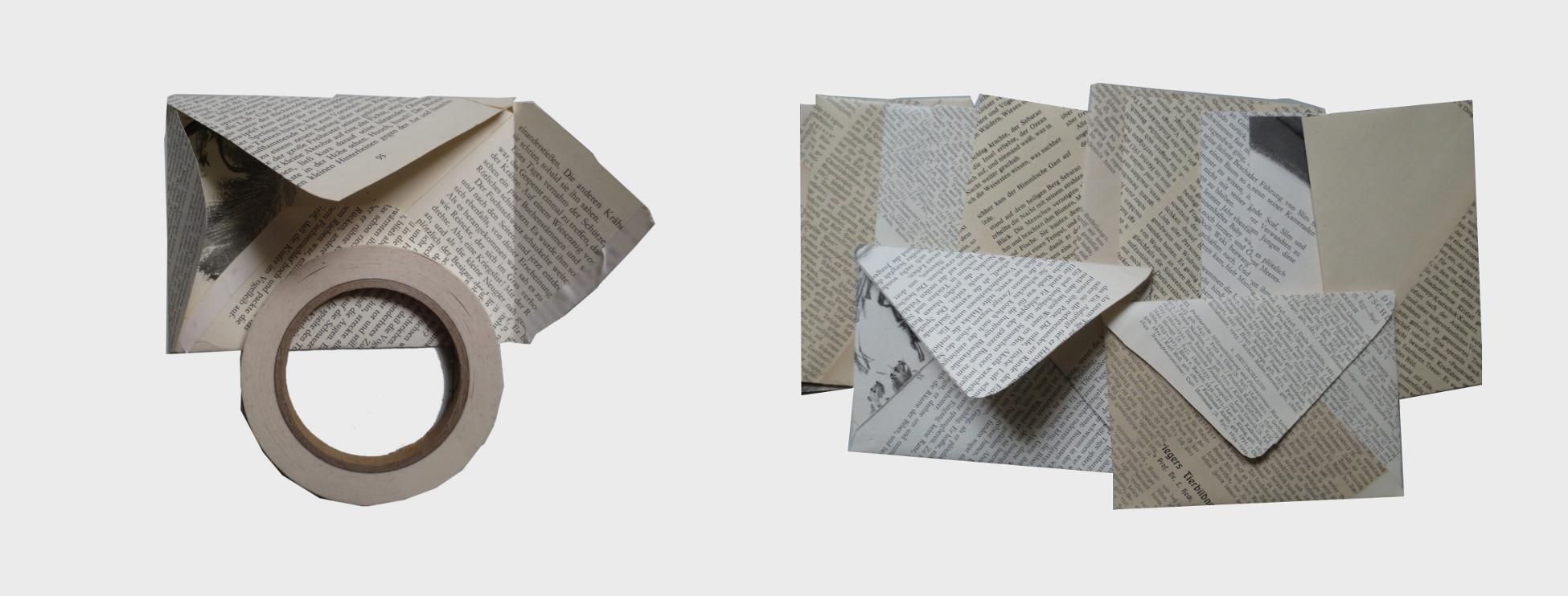 Bastelanleitung für bibliophile Lesefreunde und Bücher liebende: Briefumschlag aus alten Buchseiten