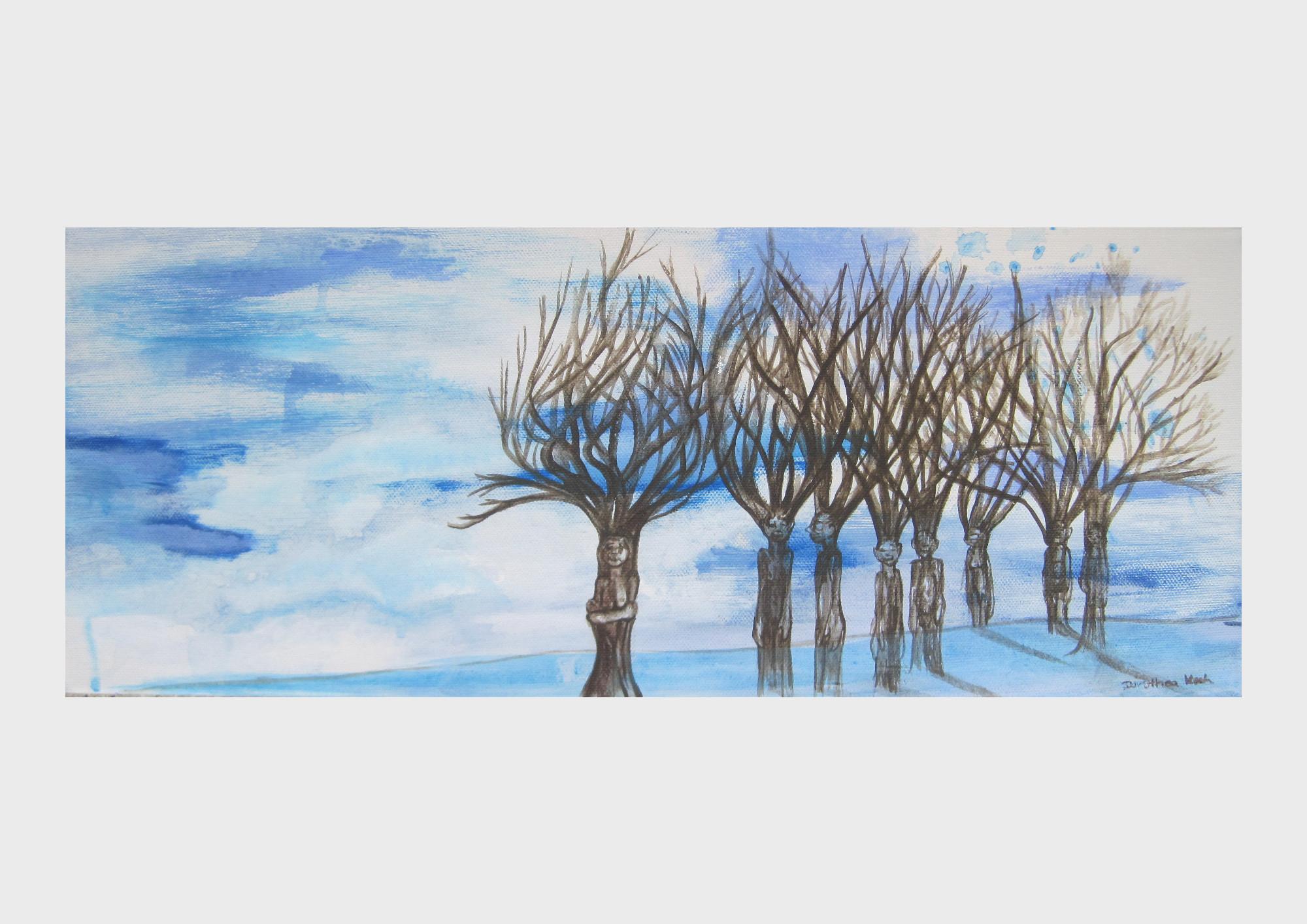 Acrylmalerei-Bäume-Dorothea-Koch