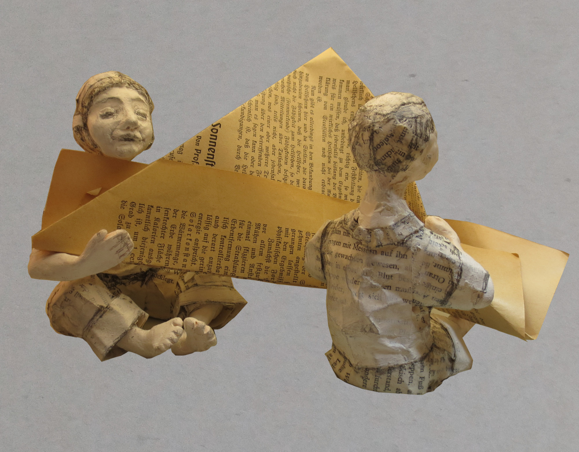 Basteln mit alten Buchseiten: Schiffe falten