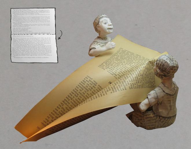 Bastelanleitung für Bibliophile: book art Papier schiff