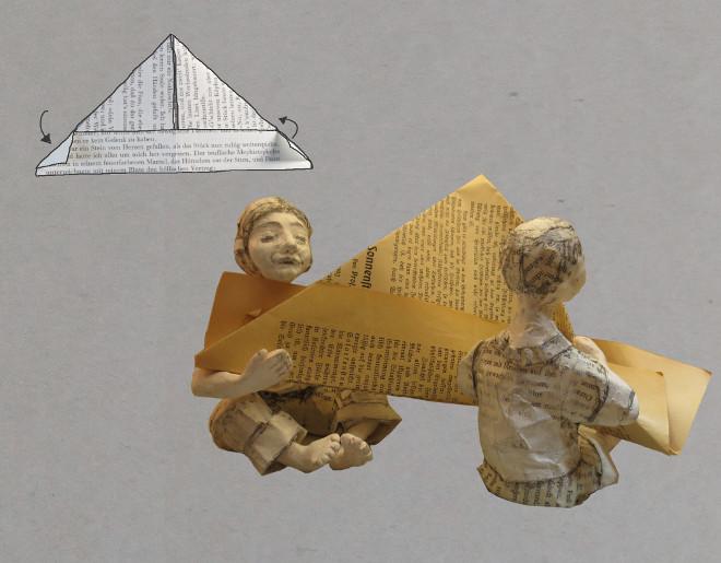 Anleitung wie Du das Papierschiff falten kannst, eine Bastelidee mit Tradition in der Recycling Variante..