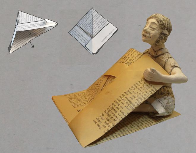 Für Bücherwürmer, Leseratten, Bücherfreunde und Seefahrer: papierschiff falten, basteln mit alten Buchseiten