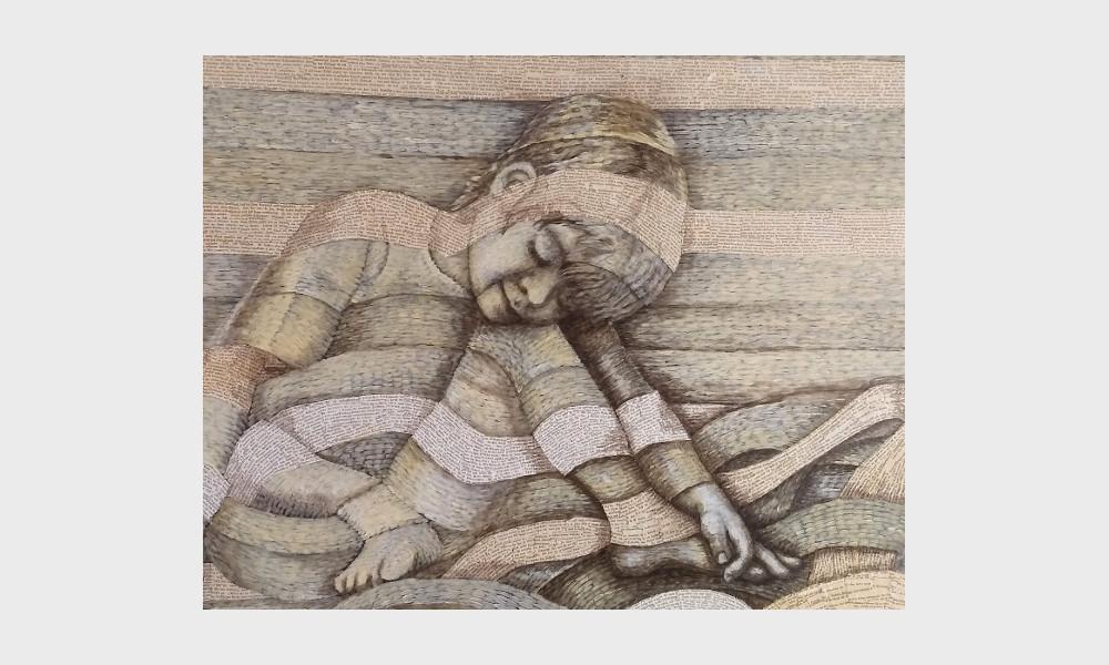 """Ein Junge liest, er scheint zwischen den Zeilen zu lesen, nimmt die Buchstaben und Wörter in die Hand und denkt an das Zitat, dass Cornelia Funke mit Tintenherz in sein Herz geschrieben hat: """"Wüsste ich woher Gedichte kommen, ich würde dorthin gehen."""