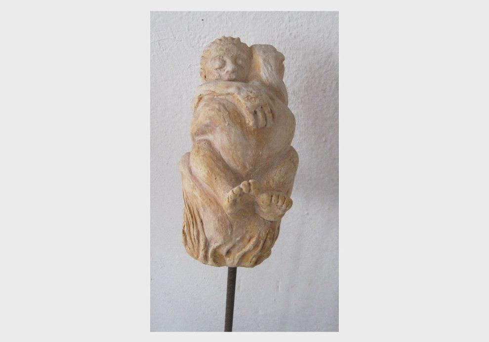 Liebespaar, Skulpturen aus Ton