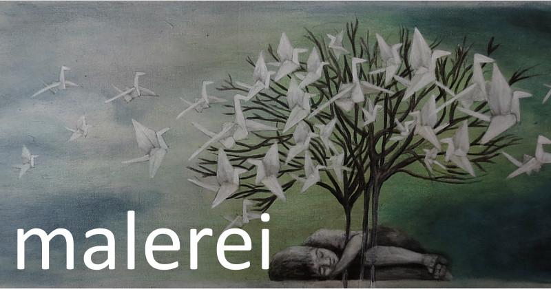 Die Phantasie ist das Auge der Seele, die Phantasie verleiht Flügel: Zitate, Worte und Geschichten sind die Inspiration der Künstlerin Dorothea Koch. Bilder für Bücherliebende und verträumte Leseratten: Papierkraniche verwandeln sich in echte Zugvögel, Origami Vögel fliegen durch den Buchstaben Himmel und erzählen eine poetische Geschichte über die Magie von Geschichten und Märchen.