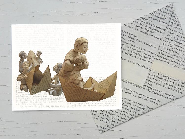 Maritime postkarte für Bücher liebende
