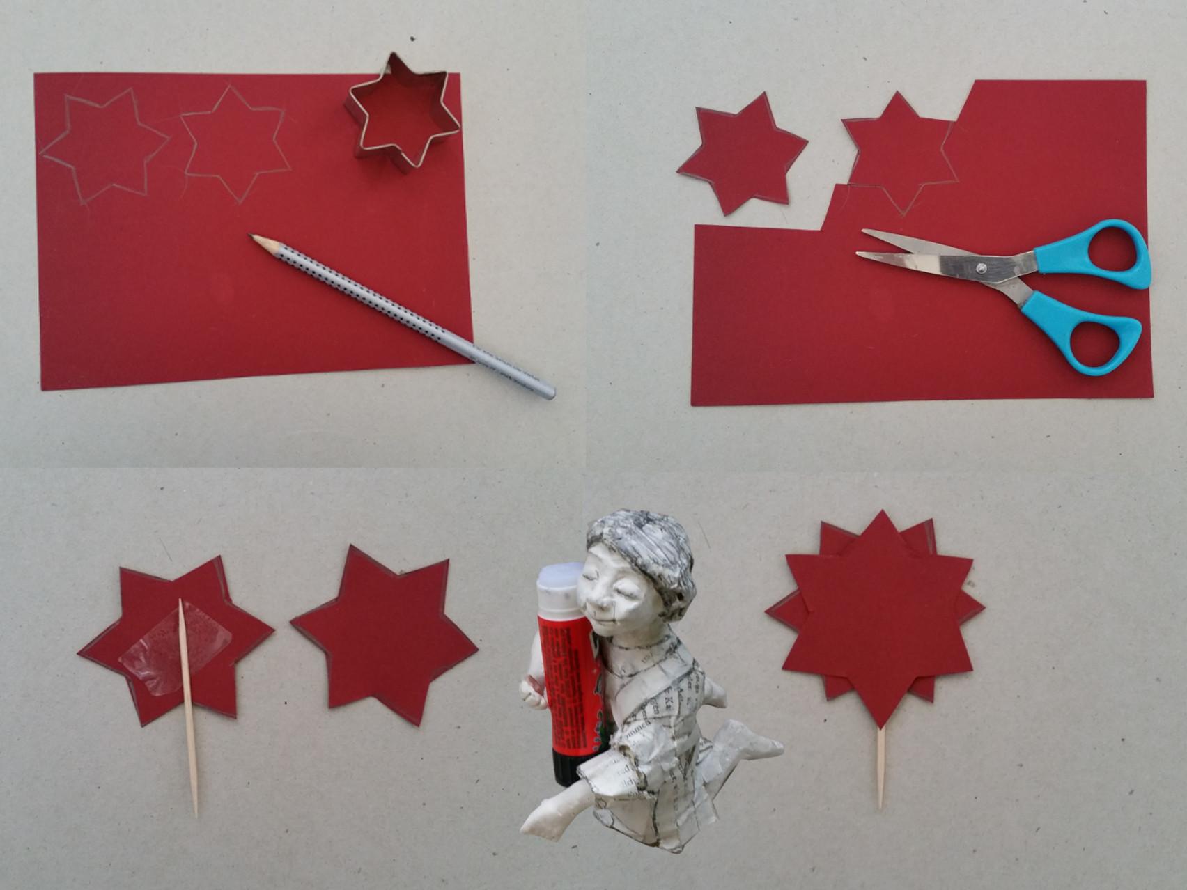 Bastelanleitung Weihnachten Stern