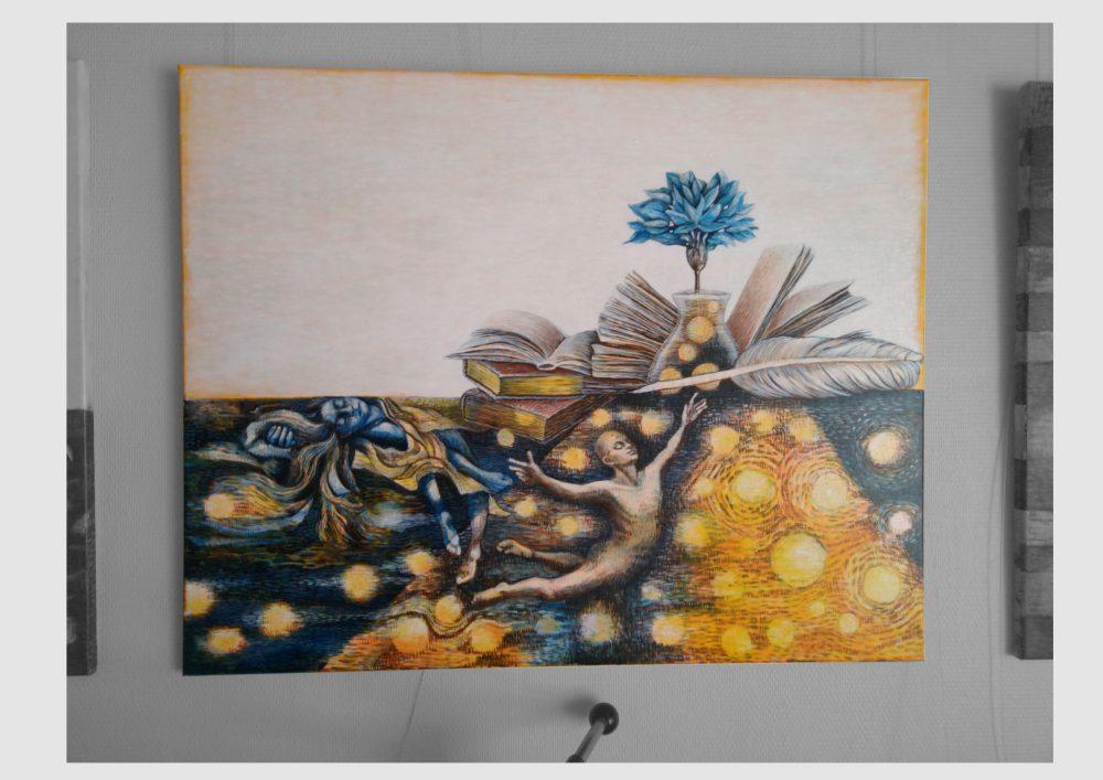 Bilder zum Thema Lesen und Schreiben: Bild mit Allegorien der Romantik von Dorothea Koch
