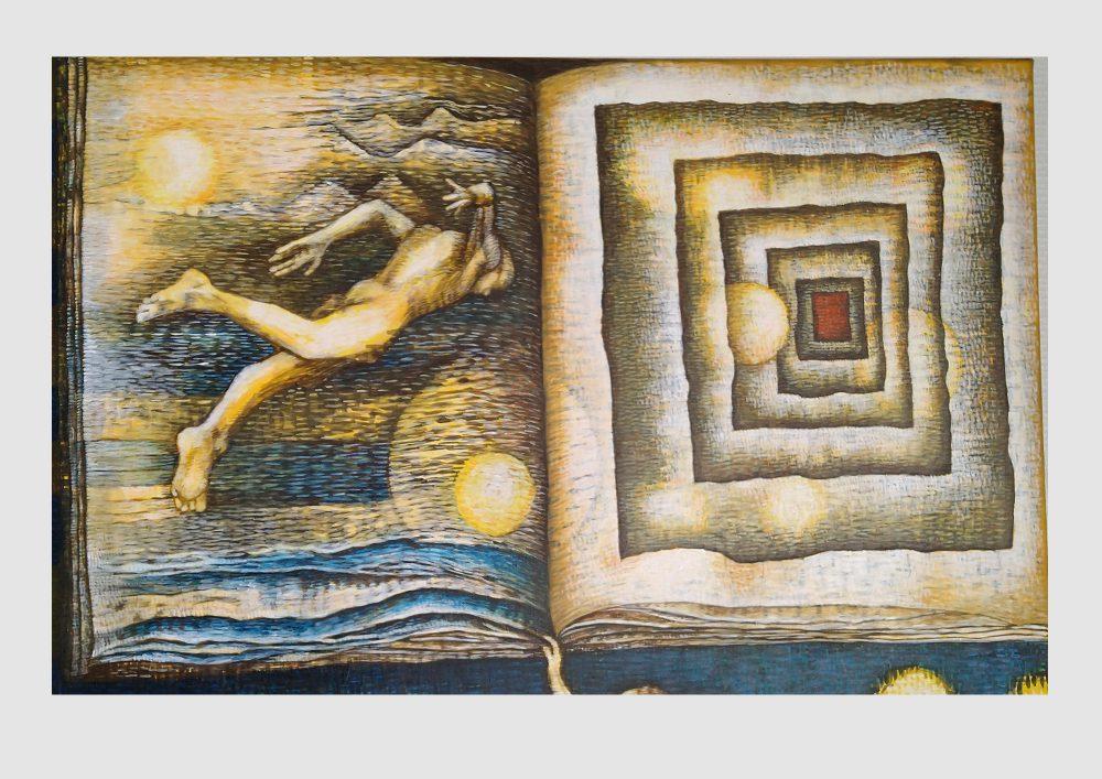 Ein Buch mit Handschriften. Bild eines Brief Romans. Buch Bilder und Motive zum Thema Literatur und Lesen aus der Werkreihe handschriftlich der Nürnberger Künstlerin Dorothea Koch.