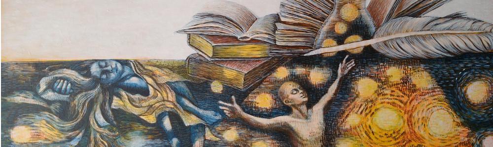 Kunst für Buchliebhaber: Versunkene Brieffreunde im Meer der Literatur