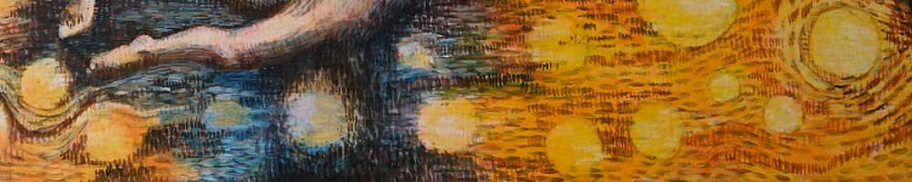 Ein Bild mit orange Färbenden Sonnen, das Strahlen symbolisiert die Leuchtkraft und die Magie von Worten